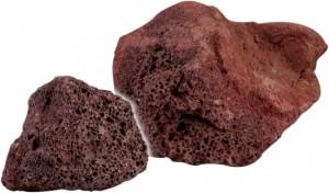 Roca Volcánica Rojo Oscuro XL